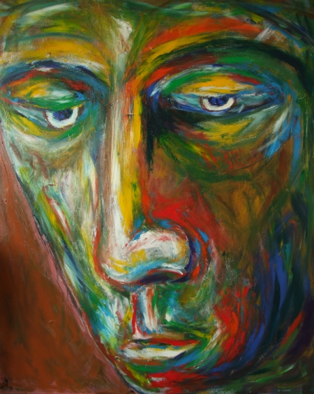 Modern Art Portrait (Acrylic Painting) by Pablo Saborio 2011