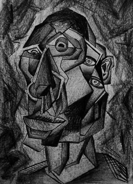 Sketch Cubist Man