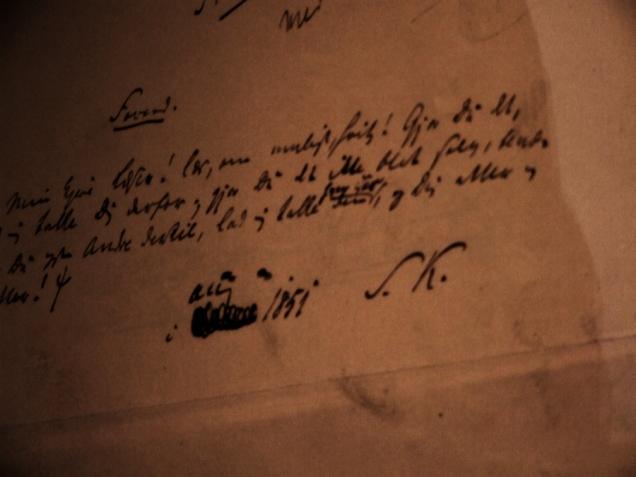 kirkegaard's handwriting (Soren K initials)- 3