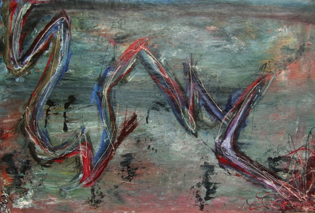 A_strange_sea_2014_Painting_Pablo_Saborio